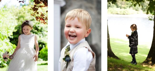 Lovely little people at Lizzie & John's wedding