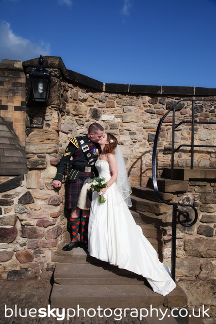 Elaine & Andy at Edinburgh Castle