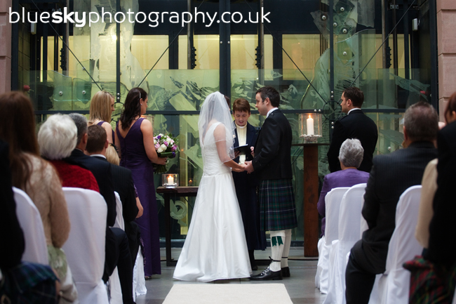 Kathryn and Robert's ceremony in The Atrium, Edinburgh