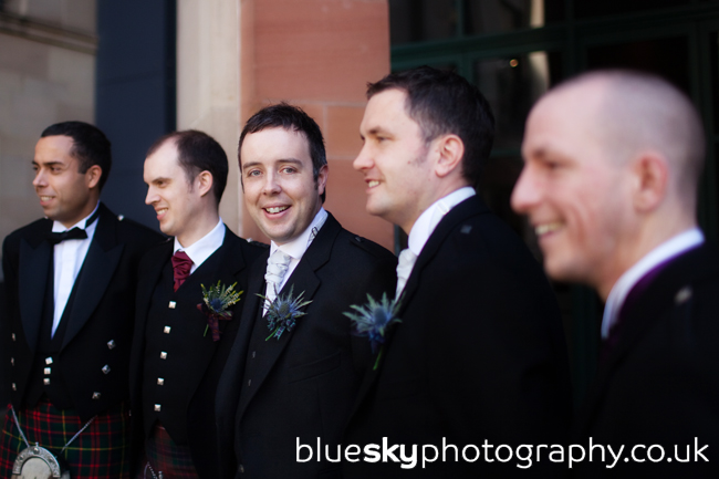Robert and the boys outside The Atrium, Edinburgh
