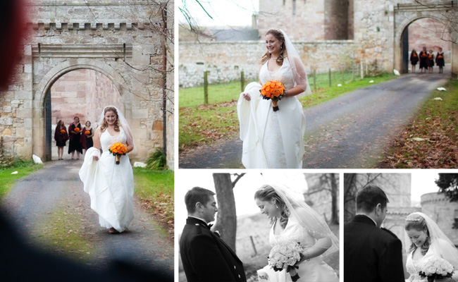 Alexi & Alan's first look, Borthwick Castle