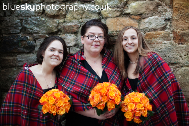 The girls at Borthwick Castle