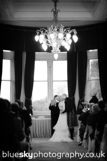 Wendy & Alan's wedding ceremony at The Balmoral Hotel, Edinburgh