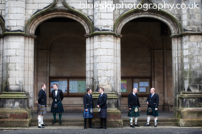 Kevin and the boys at St Salvator's Chapel, St Andrews