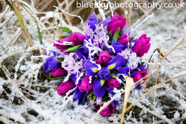 Catriona's bouquet in the snow
