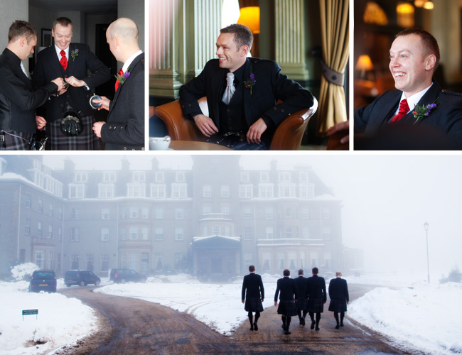 The boys at Gleneagles Hotel