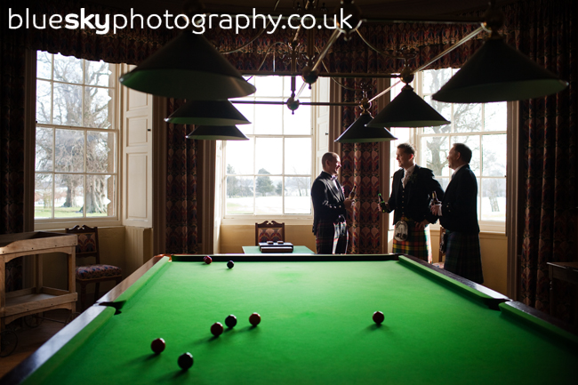 The boys in the Billiard Room, Wedderburn Castle
