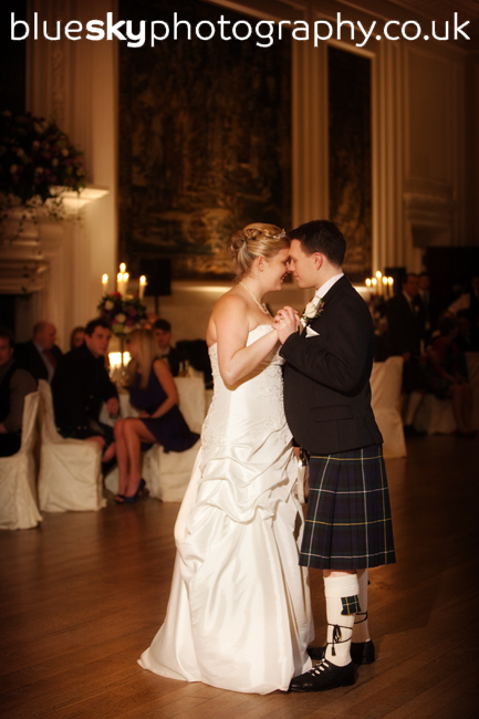 Claire & Euan's first dance at Hopetoun House