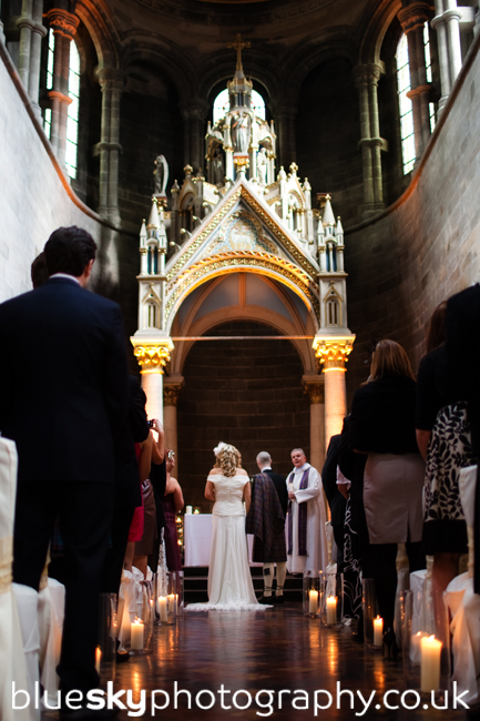 Leah & Páidí's ceremony at Mansfield Traquair