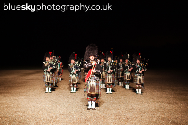 Beating the retreat at Hopetoun House, South Queensferry