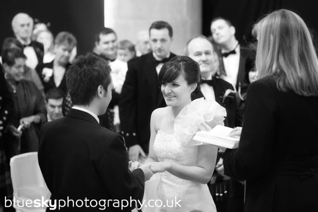Katie & John's ceremony at Mansfield Traquair