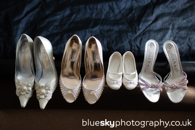 The girls' shoes
