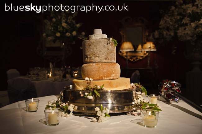 cheese wedding cake edinburgh blue sky photography dot amp iain s wedding 12594