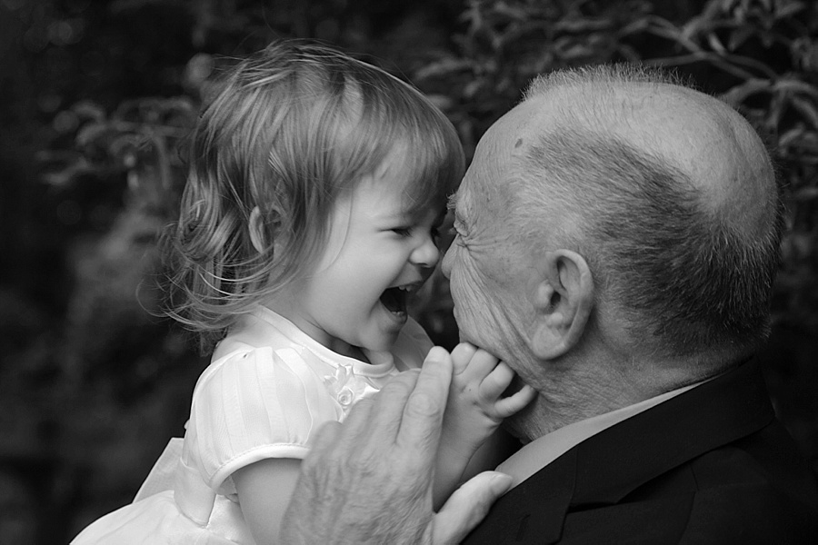 Little girl with Grandpa