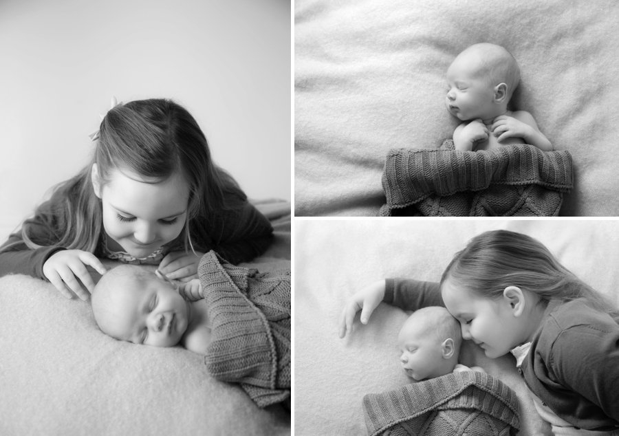 Newborn shoot with sibling