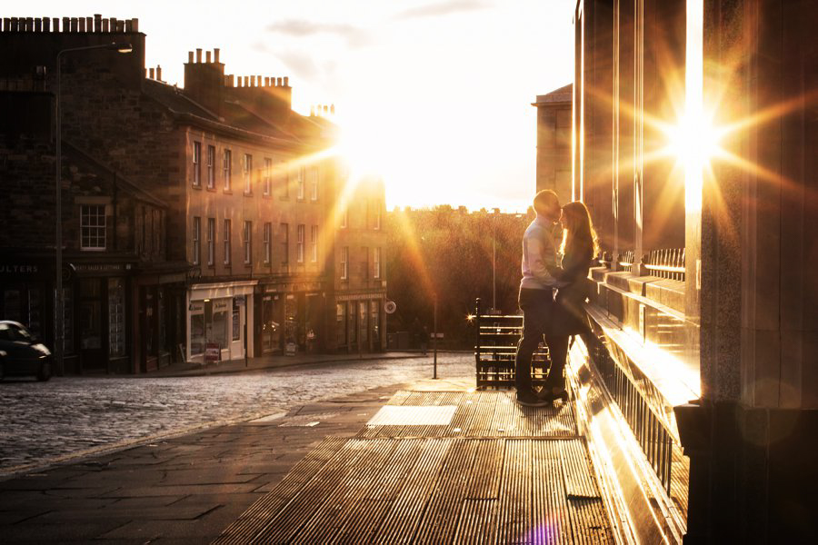 Edinburgh Engagement Shoot Blue Sky Photography