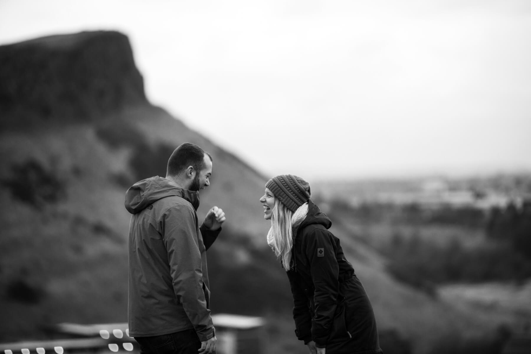 Calton Hill Proposal Photos