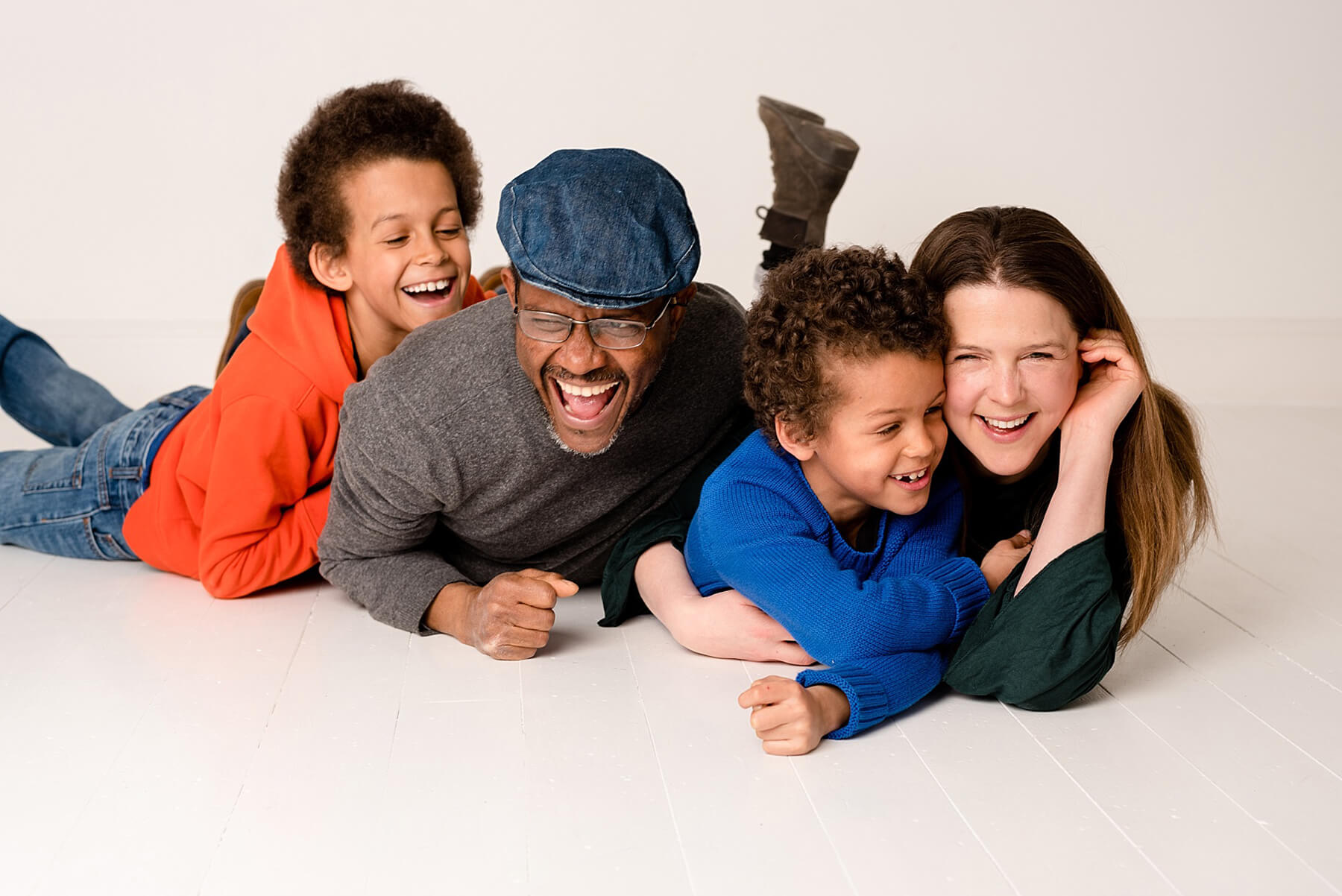 relaxed family photography