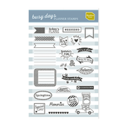 Busy Days Clear Stamps
