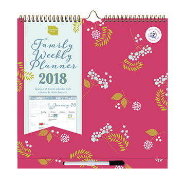2017/2018 Family Weekly Planner