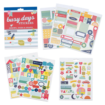 An image of Busy Days Stickers: Arrows & Shapes