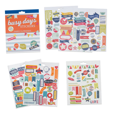 An image of Busy Days Stickers: Friends & Family
