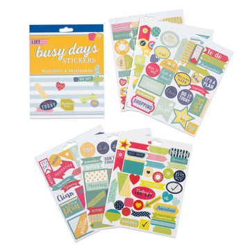 An image of Busy Days Stickers: Planning & Reminders