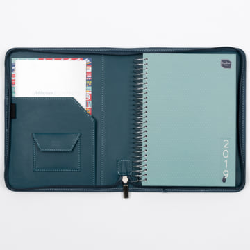 An image of 2018-2019 Life Book in Faux Leather Cover - Fountain Blue