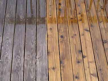 Wooden Decking Pressure Washing Before And After