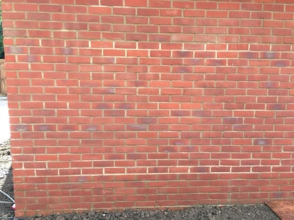 Garage Wall After Brick Cleaning