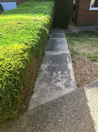 Before Concrete Pressure Washing