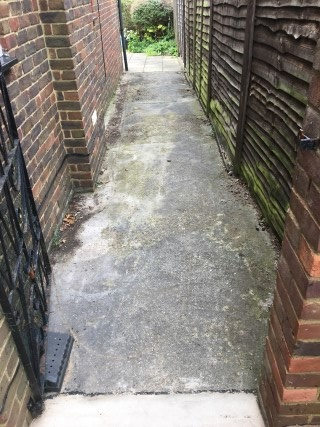 Concrete Path Marlow Before Pressure Washing