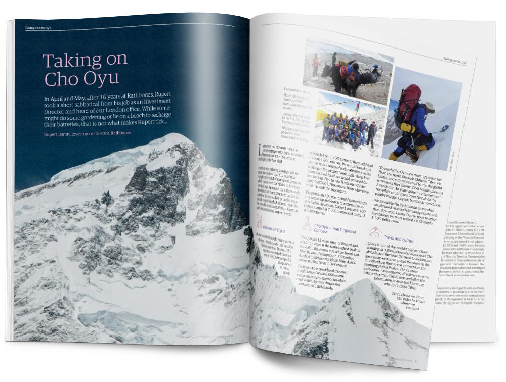 Dynamic layouts: Taking on Cho Oyu