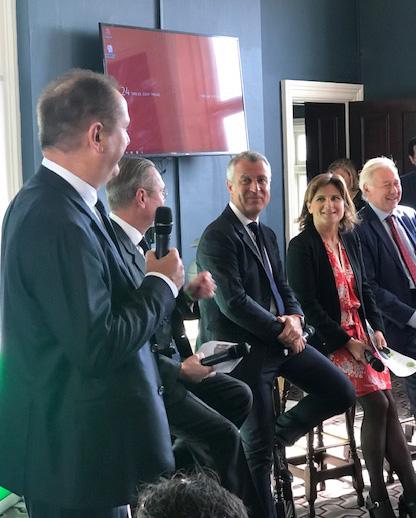 Paris La Défense leaders at a Bellier-Bulletin press briefing