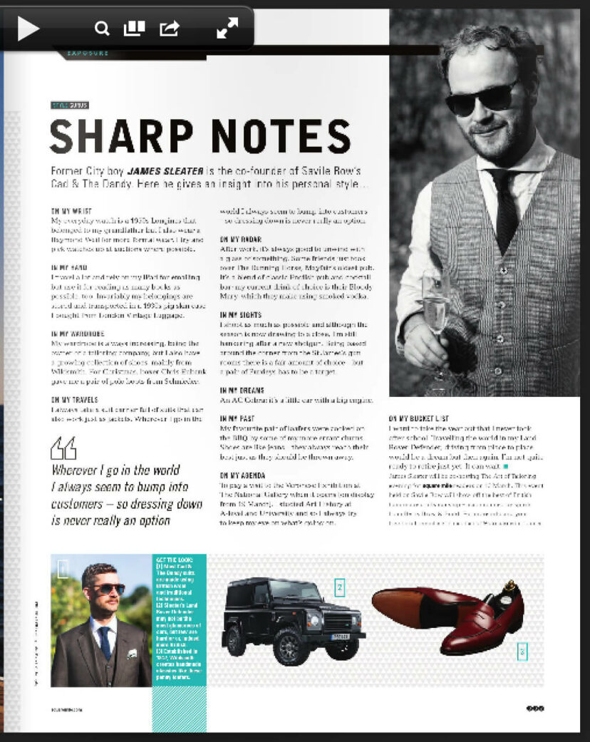 cad and the dandy in square mile magazine
