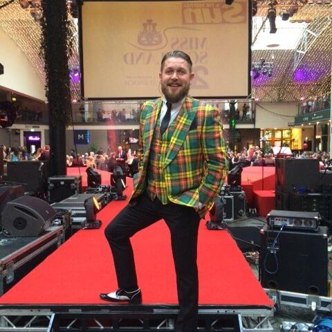 mike keat wears a cad and the dandy tartan jacket and waistcoat