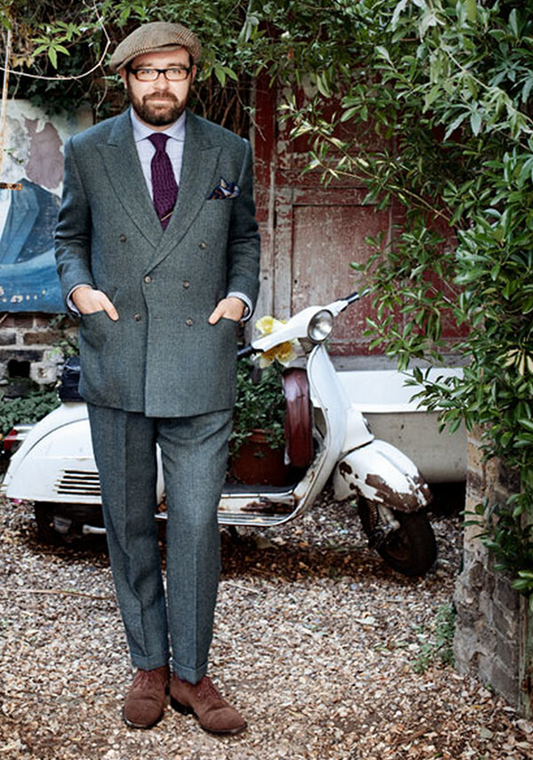 cad and the dandy grey tweed suit