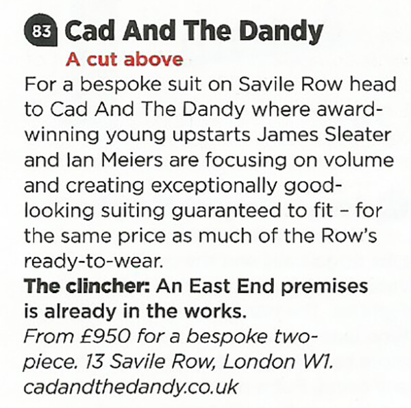 cad and the dandy in gq magazine