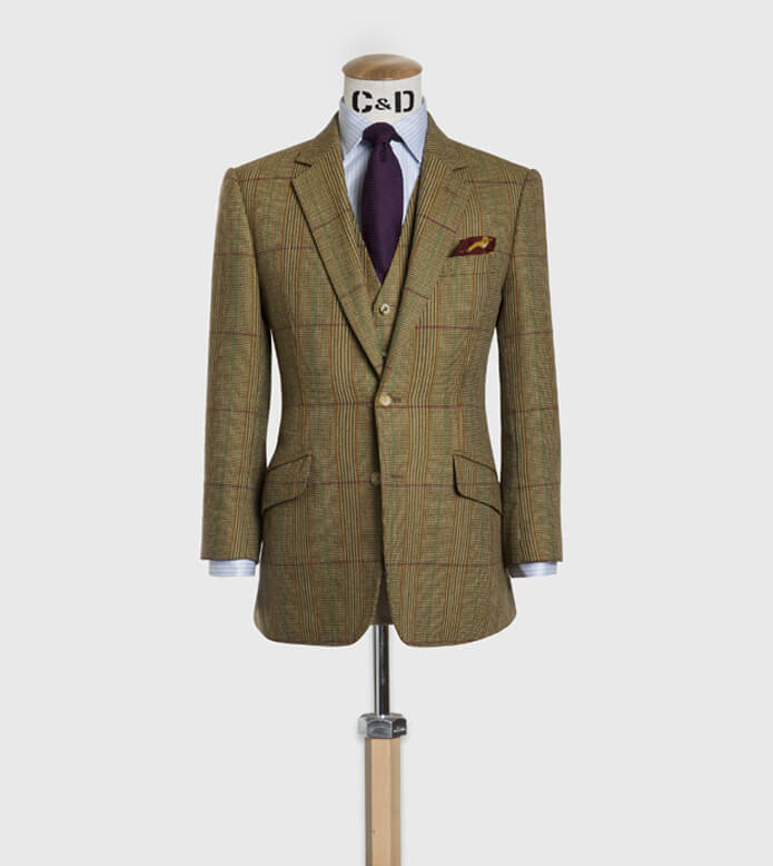 cad and the dandy tweed three piece suit