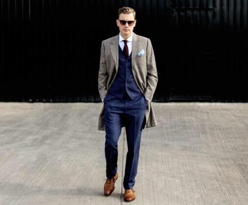 cad and the dandy checked overcoat