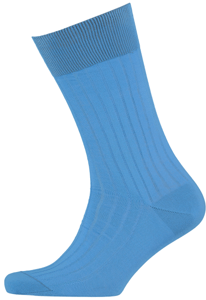Cad & The Dandy Cotton Ribbed Sky Blue Socks