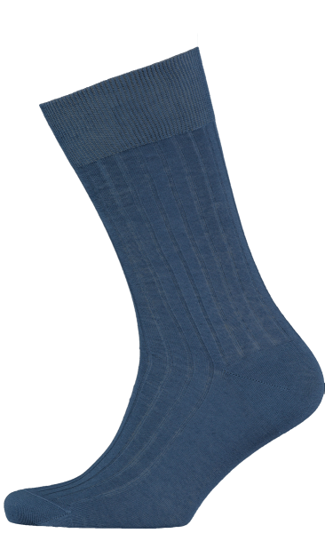 Cad & The Dandy Cotton Ribbed Teal Socks