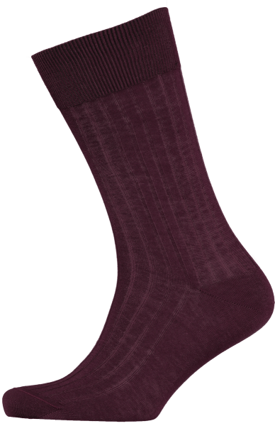 Cad & The Dandy Cotton Ribbed Burgundy Socks