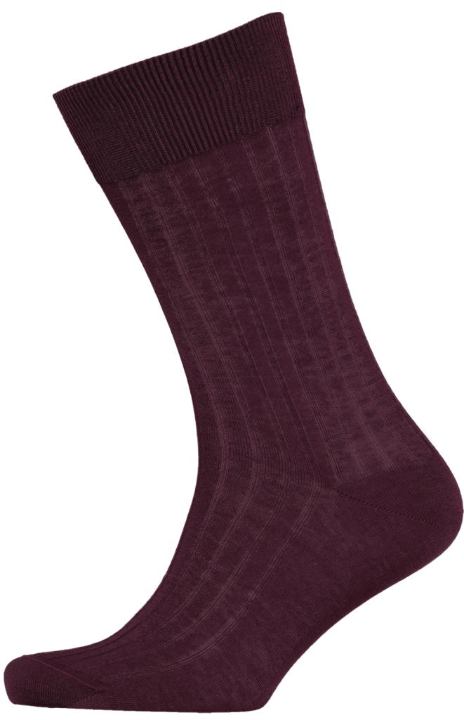 menswear-socks-cotton-ribbed-burgundy-1