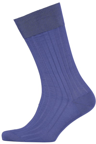 Cad & The Dandy Cotton Ribbed Indigo Socks