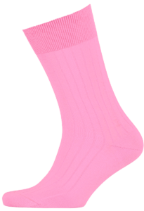 Cad & The Dandy Cotton Ribbed Pink Socks