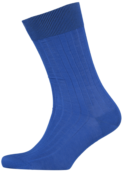 Cad & The Dandy Cotton Ribbed Cobalt Blue Socks