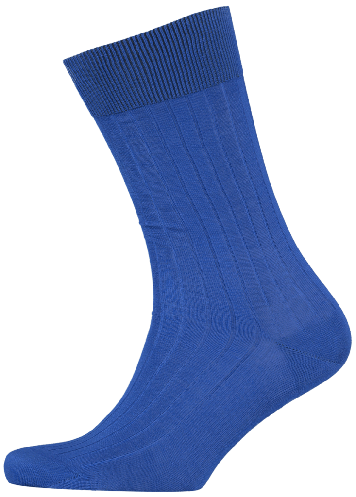 menswear-socks-cotton-ribbed-cobalt-blue-1