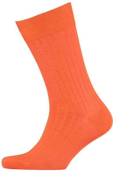 Cad & The Dandy Cotton Ribbed Orange Socks