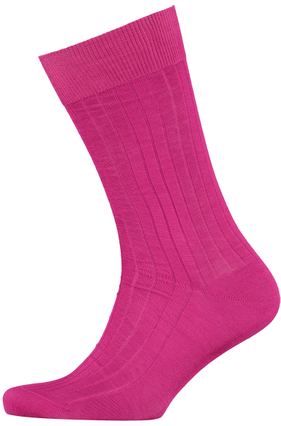 Cad & The Dandy Cotton Ribbed Fuschia Socks